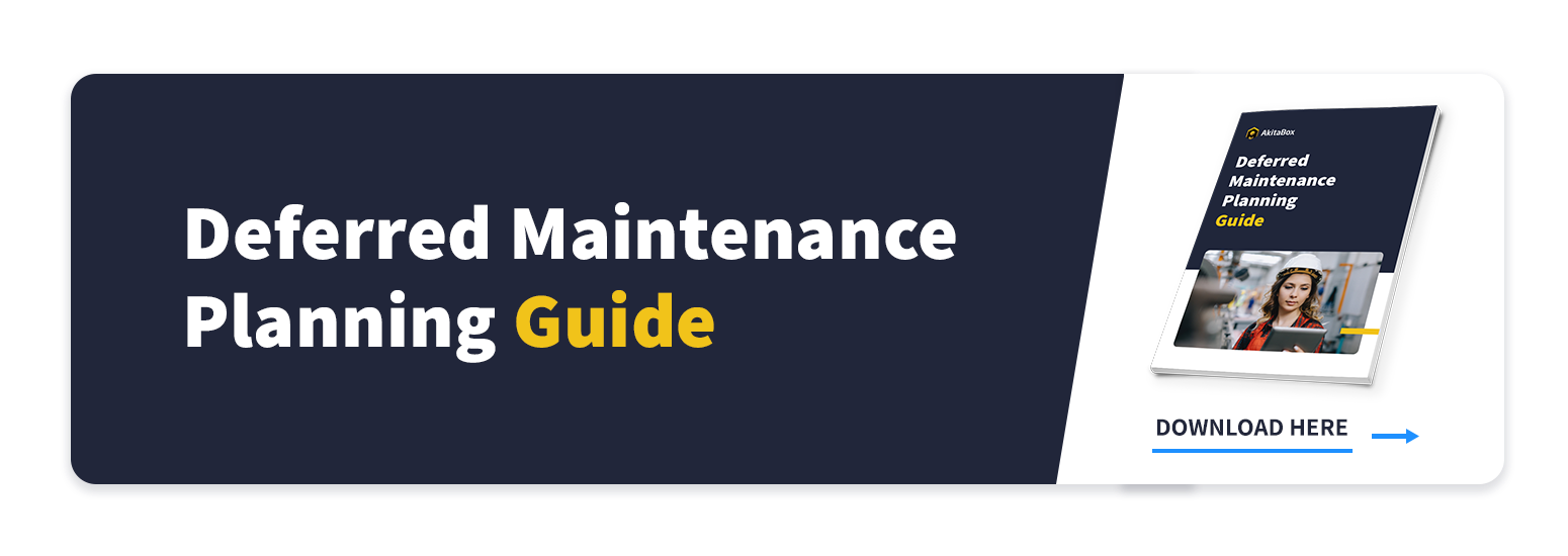 Deferred Maintenance Planning Guide Proactive approach button